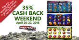 Weekend cash-back for World Match slots