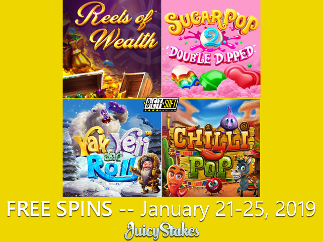 Betsoft Favorites like New Yak Yeti & Roll featured during Free Spin Week