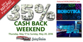 World Match cash-back this weekend