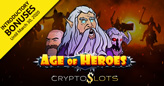 Cryptoslots Epic New Age of Heroes Slot has Unique Diamond-shaped Grid