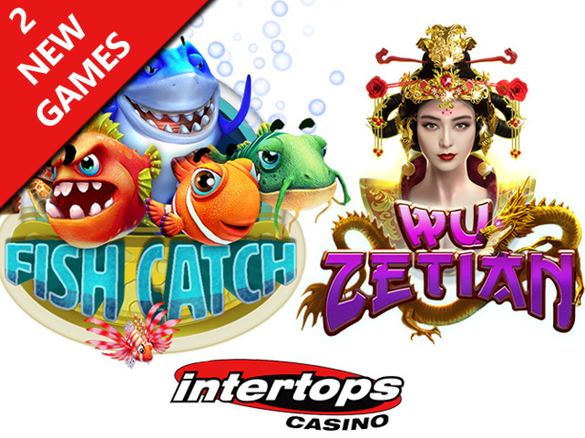 """Fish Catch"" Multiplayer Shooting Game and RTG's New Chinese Slot, ""Wu Zetian"" Now at Intertops Casino"