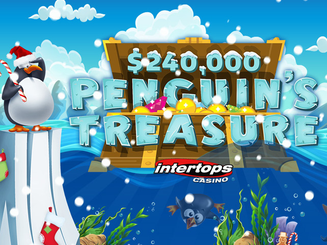 Compete with Other Players for $240,000 in Bonuses during Penguin's Treasure Contest at Intertops