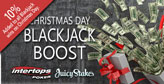 Pair to offer Christmas Day Blackjack Boost