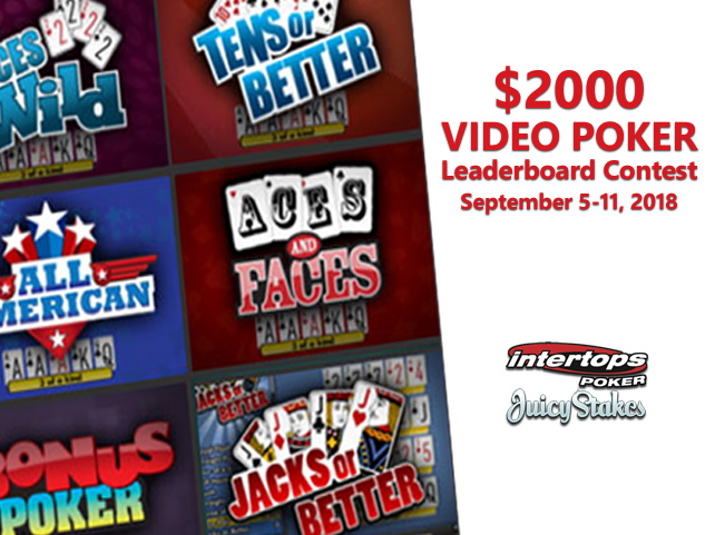 Compete with Other Video Poker Players for $2000 in Prizes