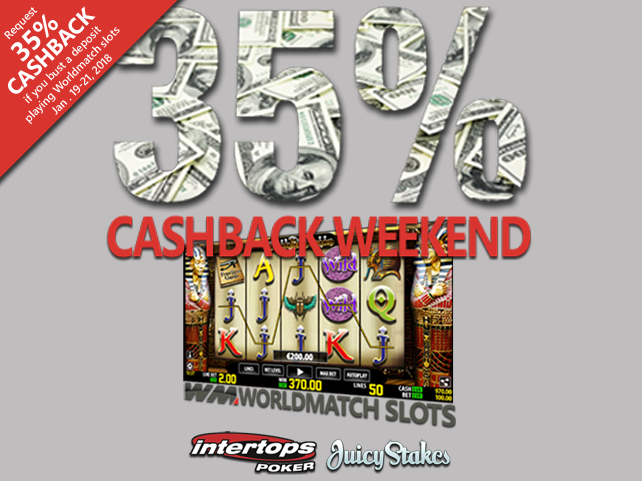 Weekend cash-back promotion for slot fans