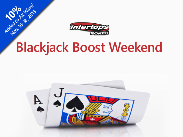 Get 10% Extra for All Blackjack Wins this Weekend!