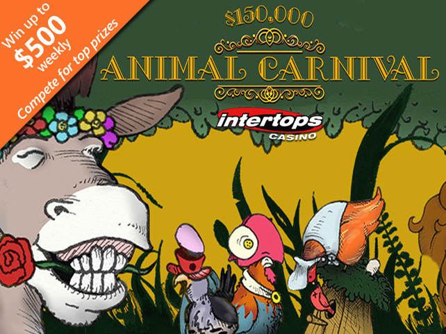 Compete for $150,000 in Prizes during Animal Carnival Bonus Contest