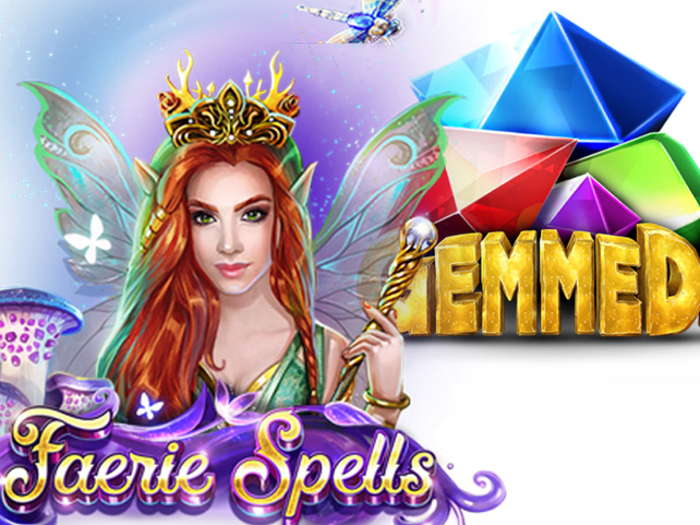 Free Spins Week features Betsoft's Glittering Gemmed and Mystical Faerie Spells Slots