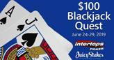 Win $100 Bonus for Hitting Designated Hands during Week-long Blackjack Quest