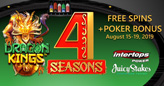 Free Spins and Poker Bonus with Deposits this Weekend at Intertops Poker and Juicy Stakes Casino