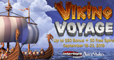 Free Spins on Viking Voyage and up to $50 Cash Bonus with Deposits this Weekend at Intertops Poker and Juicy Stakes Casino