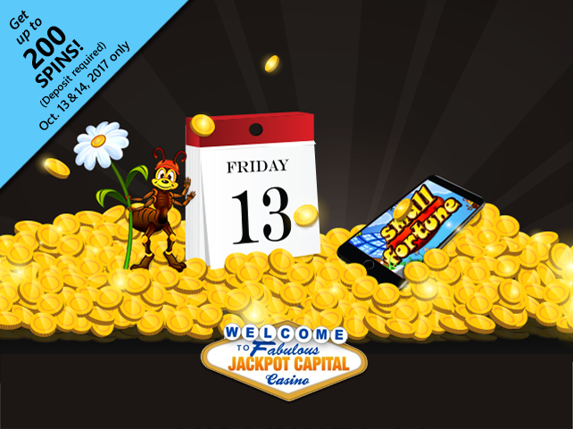 Jackpot Capital Casino to celebrate 'Friday the 13th'
