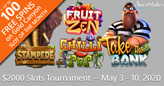 $2000 Slots Tournament Starts Sunday – No Entry Fee for Week-long Competition