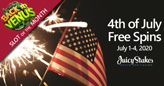 Juicy Stakes Casino Celebrates the 4th of July with Sweet Free Spins