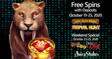 Juicy Stakes Casino Giving Free Spins on 2 Brand New Slots and 2 Halloween Favorites