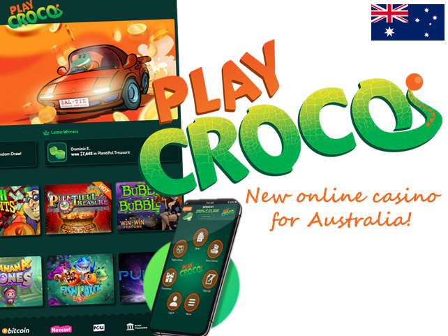 True Blue PlayCroco.com Brings World Class Casino Fun to Australia