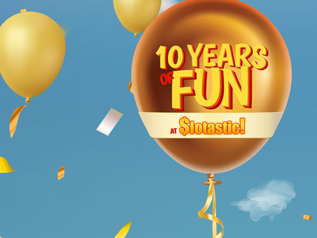 Slotastic Celebrates 10 Funtastic Years with Free Mini Games