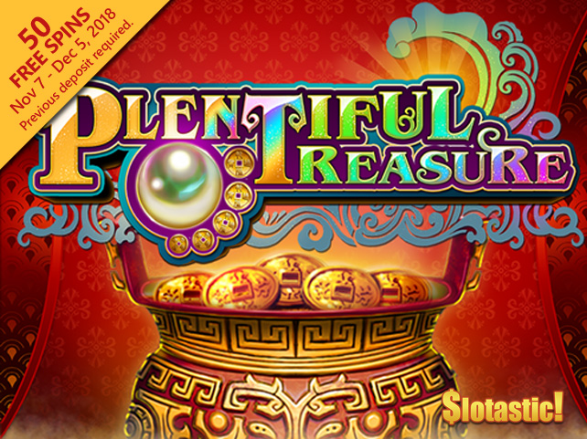 Popular Las Vegas Slot Game, Plentiful Treasure, Now Online at Slotastic