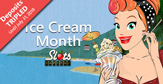 300% Ice Cream Month Casino Bonus at Slots Capital this Month