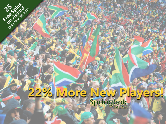 22% More South Africans Discover Springbok Casino