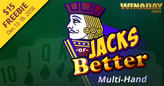 $15 Freebie to Try New Jacks or Better Multi-hand Video Poker