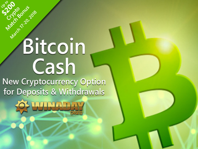 WinADay Casino now accepting Bitcoin Cash